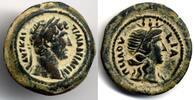AE Obol 126/7 AD Egypt / Ägypten Hadrian 1...