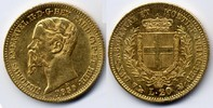 20 Lire 1859 Genoa Italy / Italien Sardina...