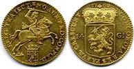 14 Gulden / Gouden Rijder 1760 Netherlands...
