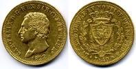 40 Lire 1822 Torino Italy / Italien Sardin...