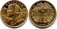 20 Franken 1926 Switzerland / Schweiz Vren...