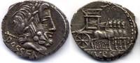 AR Denarius / Denar 87 BC Roman republic /...