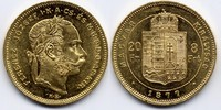 8 Forint / Gulden 1877 KB Österreich-Ungar...