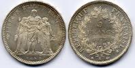 5 Francs 1873 A Frankreich / France Dritte...