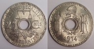 25 centimes 1914 Frankreich / France Essai...