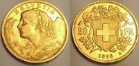 20 Franken 1898 Switzerland / Schweiz Vren...