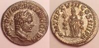 AR Denarius / Denar 215 AD Roman Empire / ...