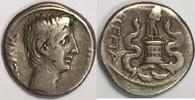 AR Quinarius ca 29-28 BC Roman Empire / Rö...