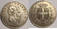 5 Lire 1865 T Italien / Italy Vittorio Ema...