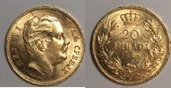 20 Dinara 1882 V Serbien / Serbia Milan Ob...