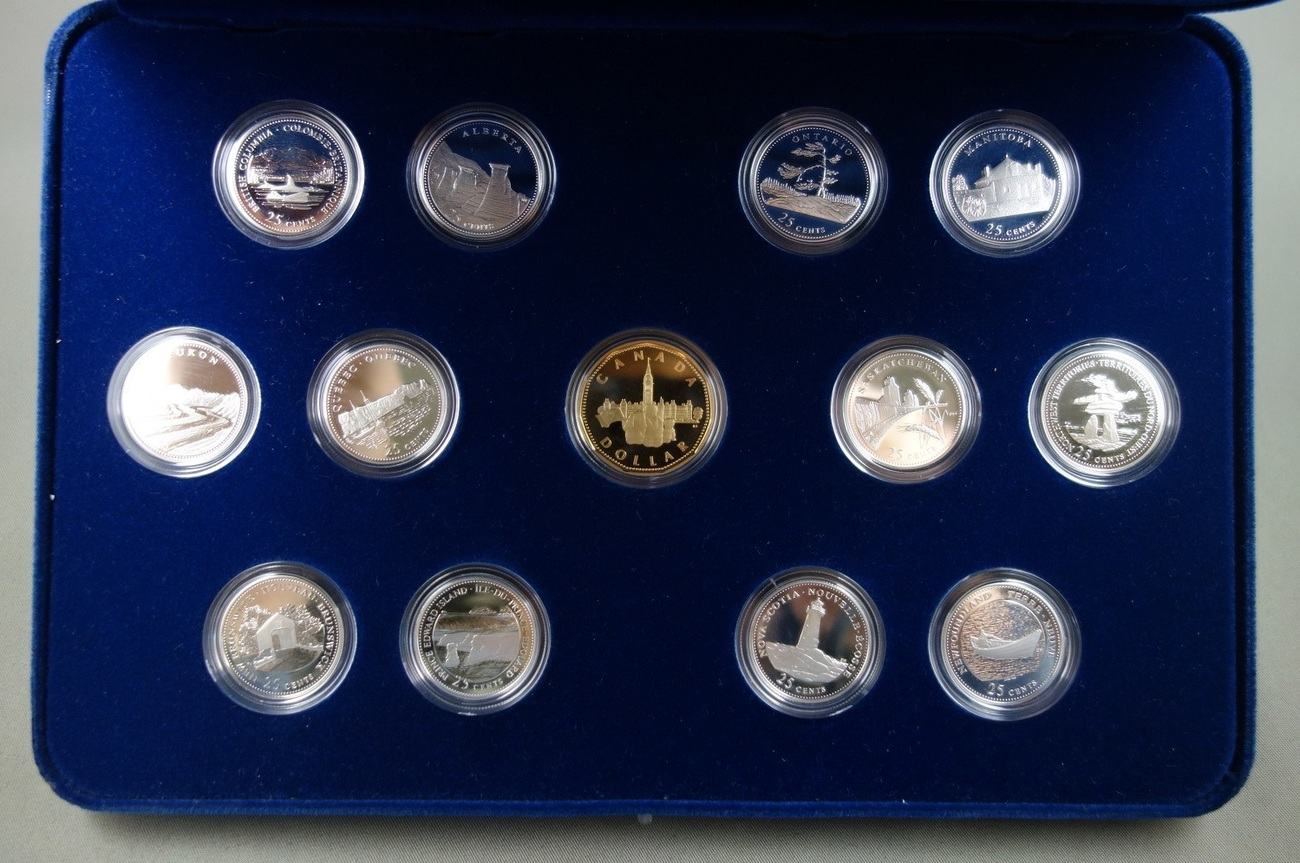 1992-125th Anniversary of Canada 25 cent Silver Proof Set