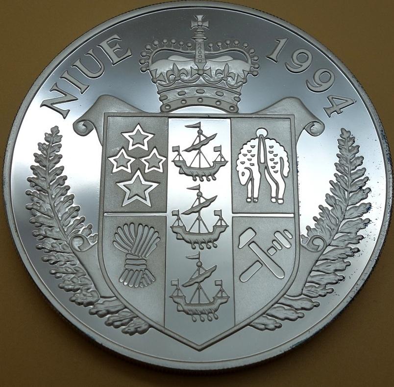 50 Dollars 1994 Niue Austragungsorte der Fußball-WM 1994 Proof ...