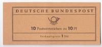10x 10Pf  BRD Markenheftchen Heuss Variant...