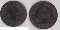 Deutsch-Ostafrika 5 Heller Deutsch-Ostafrika 5 Heller  1908 J