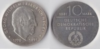 10 Mark 1981 DDR Friedrich Hegel st