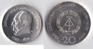 20 Mark 1969 DDR Goethe stempelglanz