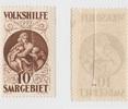 10+ 10F 1928 Saargebiet Volkshilfe def.