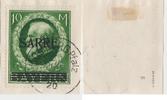 10 Mark 1920 Saargebiet Aufdruck auf Marke...