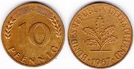 10 Pfennig 1967 G BRD  st-