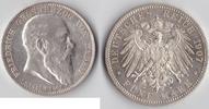 """5 Mark 1907 Kaiserreich, Baden """"zum T..."""