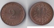 2 Pfennig 1875 G Deutsches Reich Kursmünze...