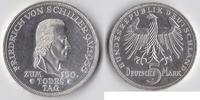 5 Deutsche Mark 1955 F BRD Schiller vz-