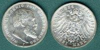 3 Mark 1914 F Württemberg Wilhelm II. vz/stgl.  39,00 EUR  +  5,90 EUR shipping