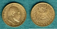 20 Mark 1897 F Württemberg Wilhelm II. vz  375,00 EUR  +  9,90 EUR shipping