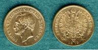 20 Mark 1873 E Sachsen Johann ss+, kl. Rf.  415,00 EUR  +  9,90 EUR shipping