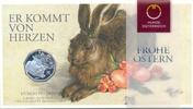 5 Euro 2016 ÖSTERREICH, AUSTRIA 5 Euro 2016, Feldhase von Dürer, Silber... 22,00 EUR  +  6,00 EUR shipping
