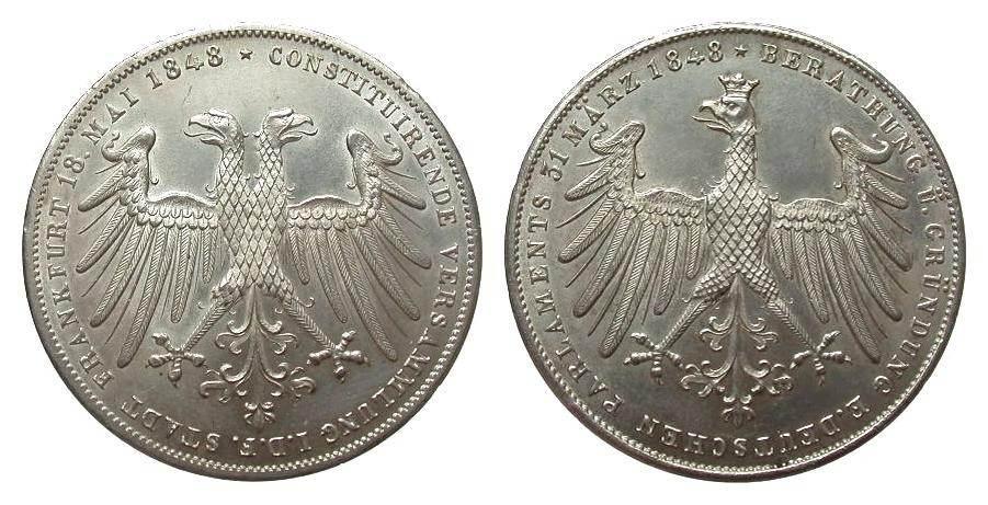 Frankfurt gedenkdoppelgulden 1848 deutsche m nzen vor 1871 for Weller frankfurt