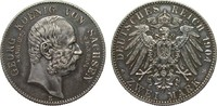 2 Mark Sachsen Georg auf den Tod 1904 E Ka...