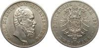 2 Mark Württemberg 1880 F Kaiserreich  Bil...