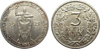3 Mark Rheinlande 1925 J Weimarer Republik...