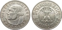 5 Mark Luther 1933 F Drittes Reich  Randfe...