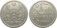 2 Gulden Danzig 1923 Kolonien und Nebengeb...