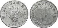 1 Pfennig 1945 E Drittes Reich  vorzüglich