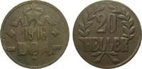 20 Heller 1916 T Kolonien und Nebengebiete...
