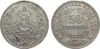 50 Pfennig 1877 J Kaiserreich  vorzüglich