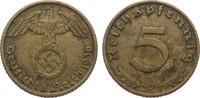 5 Pfennig 1936 D Drittes Reich  sehr schön