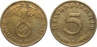 5 Pfennig 1936 D Drittes Reich  besser als...