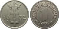 1 Gulden Danzig 1932 Kolonien und Nebengeb...