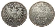 3 Mark Lübeck 1909 A Kaiserreich  vorzügli...