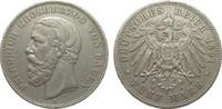 5 Mark Baden ohne Querstrich im A 1891 G Kaiserreich  knapp sehr schön  380,00 EUR free shipping
