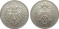 2 Mark Lübeck 1901 A Kaiserreich  knapp vorzüglich  340,00 EUR free shipping