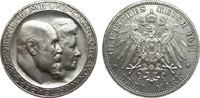 3 Mark Württemberg Silberhochzeit 1911 F K...