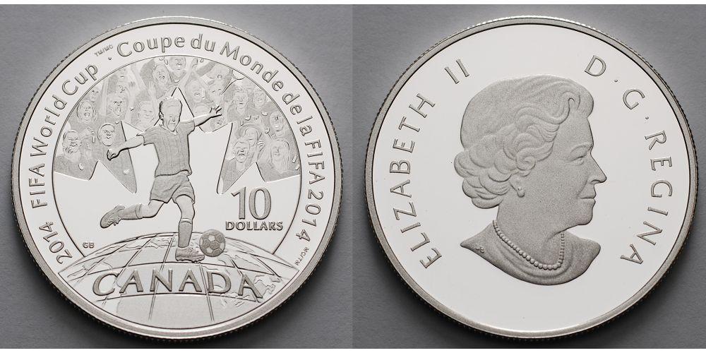 10 Dollars 2014 Kanada Fußball Weltmeisterschaft 2014 in Brasilien ...
