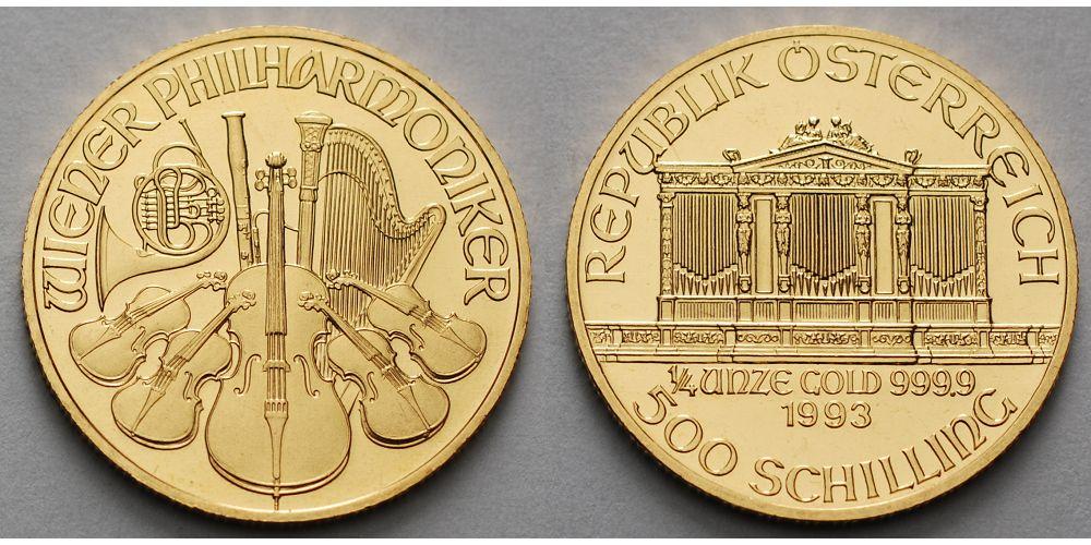 500 Schilling 14oz 1989 2001 österreich Wiener Philharmoniker 9999 Er Gold 1993 Anlagegold