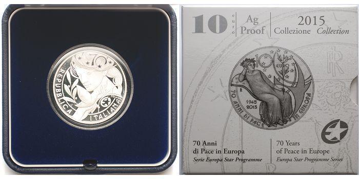 10 Euro 2015 Italien 70 Jahre Frieden Europaprogramm Inkl Kapsel