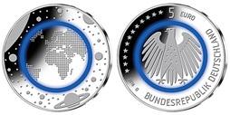 5 Euro 2016 Außer Fgj Deutschland Blauer Planet Erde Prägestätte